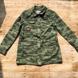 Justice Camo Shirt Jacket Military inspired